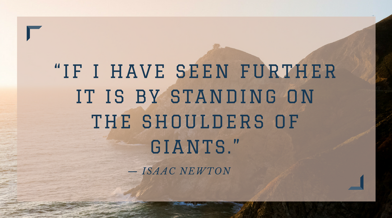 quote by Isaac Newton about obtaining help when you need it