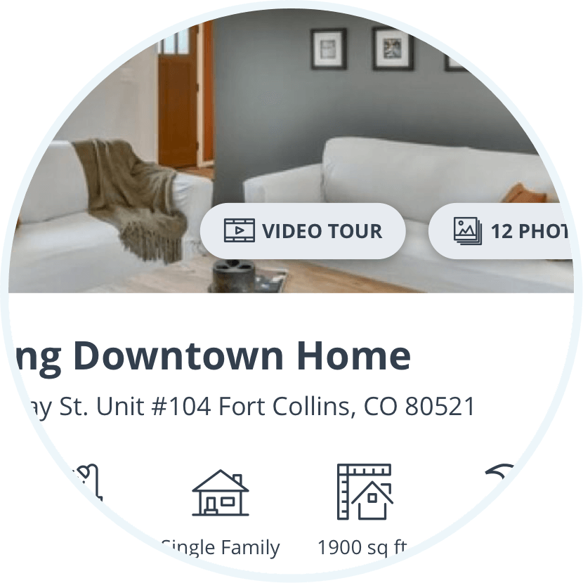 button to view a video tour on the listing page